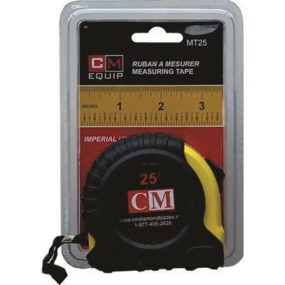 "CM 25'x1"" measuring tape, Imperial"