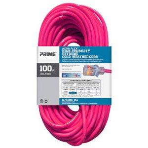 100ft, 12 / 3 SJTW Neon PINK