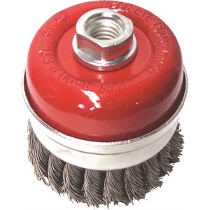 """3"""" Cup Brush 5 / 8-11"""", Wire.020, (Knotted)"""