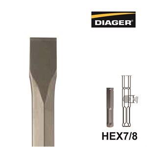 HEX7 / 8; Flat chisel; 1 1 / 8x14