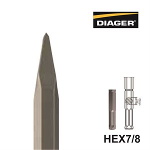 HEX7 / 8; Pointed chisel;