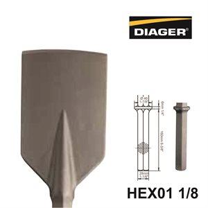 HEX01 1 / 8; Spade Chisel; 3x22